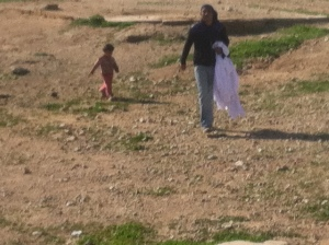 Bedouins on the run to meet the bus 2015-01-14 10.35.17