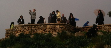 tourists on mt precipice